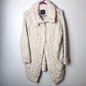 Womens Zara oatmeal chunky knit sweater size small